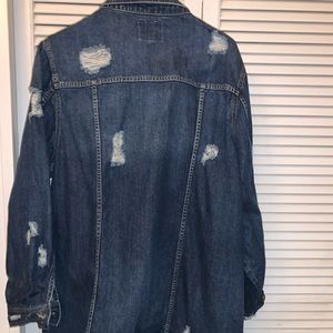 Torrid Longline Destructed Denim Jacket